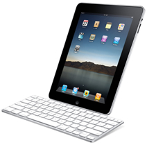 Apple iPad and Apple keyboard
